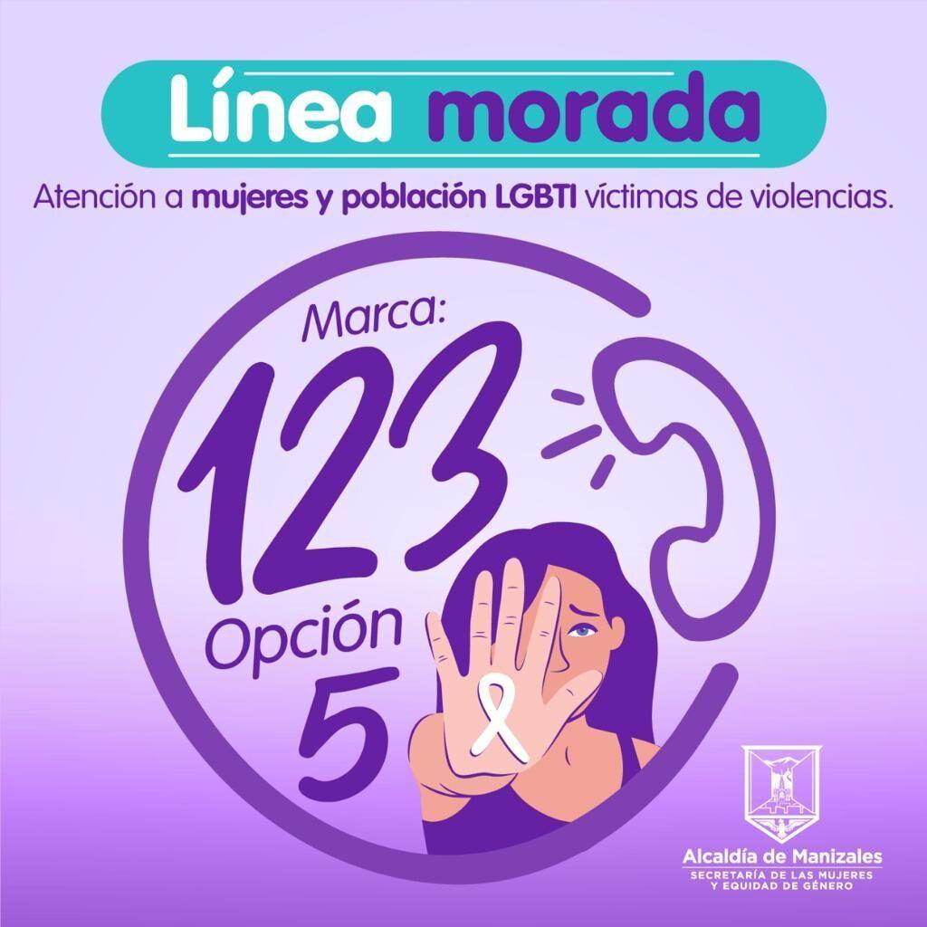 Línea morada, marca 123 opción 5