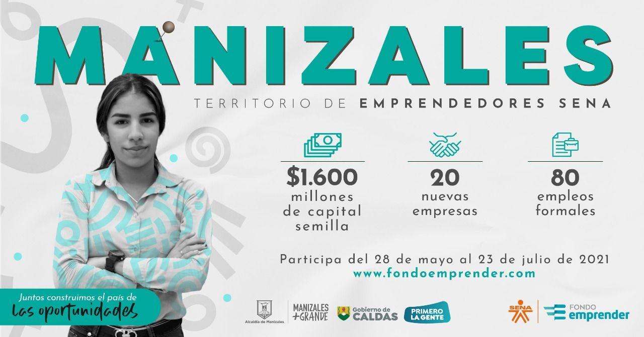 Fondo Emprender abrió convocatoria por $1.600 millones para emprendedores manizaleños